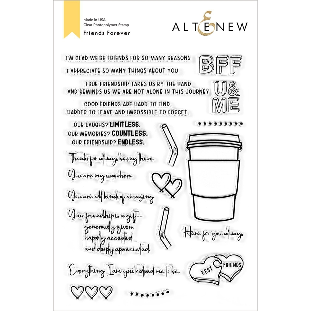 Altenew FRIENDS FOREVER Clear Stamps ALT4523 zoom image