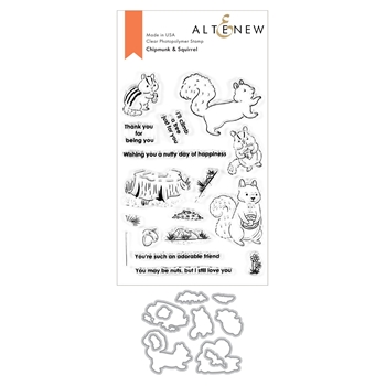Altenew CHIPMUNK AND SQUIRREL Clear Stamp and Die Bundle ALT4522