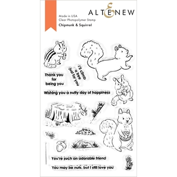 Altenew CHIPMUNK AND SQUIRREL Clear Stamps ALT4520