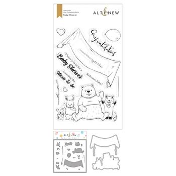 Altenew BABY SHOWER Clear Stamp, Die and Mask Stencil Bundle ALT4519