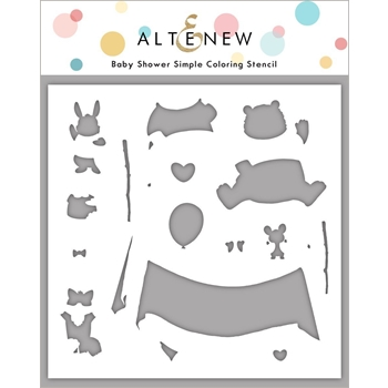 Altenew BABY SHOWER Simple Coloring Stencil ALT4518