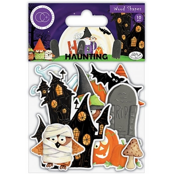 Craft Consortium HAPPY HAUNTING Wood Shapes CCWDNS011