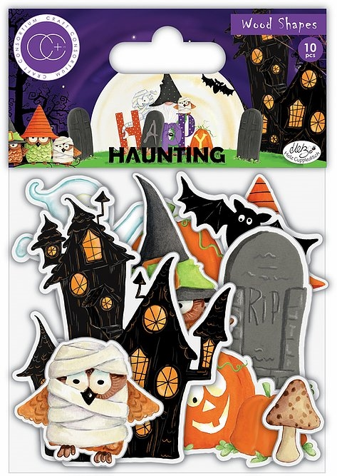 Craft Consortium HAPPY HAUNTING Wood Shapes CCWDNS011 zoom image
