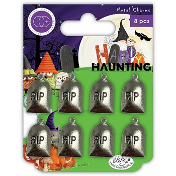 Craft Consortium HAPPY HAUNTING GRAVES Metal Charms CCMCHRM016