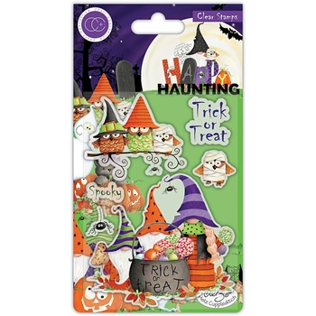 Craft Consortium HAPPY HAUNTING TRICK OR TREAT Clear Stamps CCSTMP052