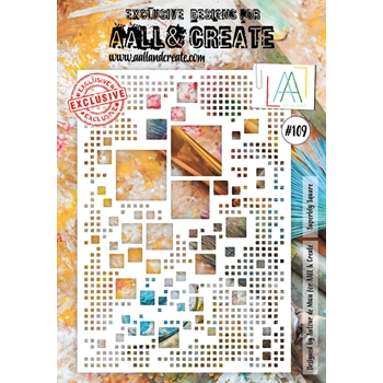AALL & Create SUPERBLY SQUARE A4 Stencil aal10109