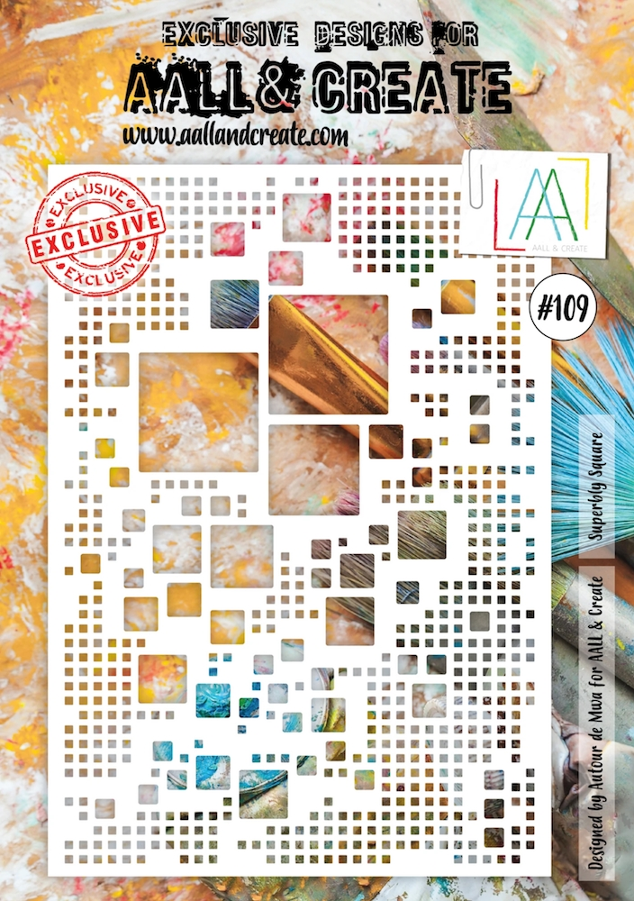AALL & Create SUPERBLY SQUARE A4 Stencil aal10109 zoom image