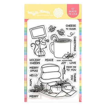 Waffle Flower HOLIDAY CHEESE Clear Stamps 420381