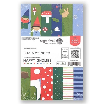 Waffle Flower HAPPY GNOMES Paper Pad WFP260*
