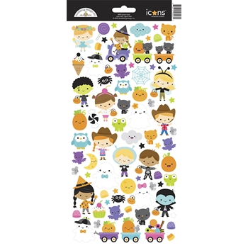 Doodlebug GHOST TOWN Icons Cardstock Stickers 6993