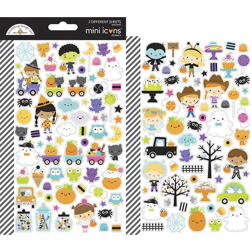 Doodlebug GHOST TOWN Mini Icons Stickers 7048 Preview Image