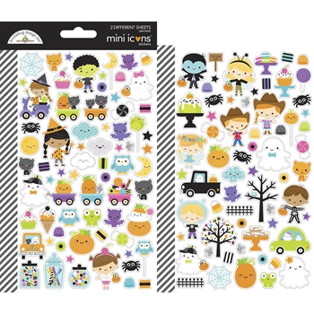 Doodlebug GHOST TOWN Mini Icons Stickers 7048