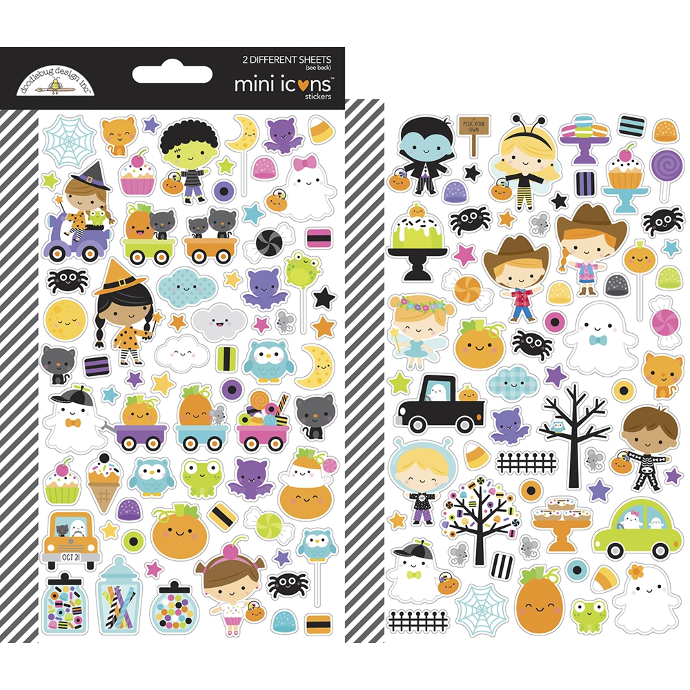 Doodlebug GHOST TOWN Mini Icons Stickers 7048 zoom image