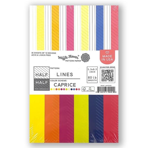 Waffle Flower HALF HALF LINES CAPRICE Paper Pad  WFP240* Preview Image