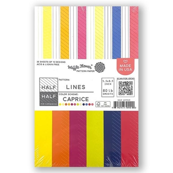 Waffle Flower HALF HALF LINES CAPRICE Paper Pad  WFP240
