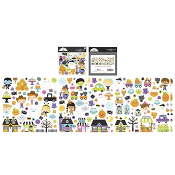 Doodlebug GHOST TOWN Odds and Ends Ephemera Die Cut Shapes 6987