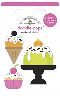 Doodlebug CAKE AND I-SCREAM Doodle Pops 3D Stickers 6961 Preview Image