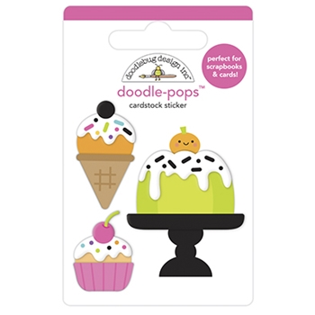 Doodlebug CAKE AND I-SCREAM Doodle Pops 3D Stickers 6961