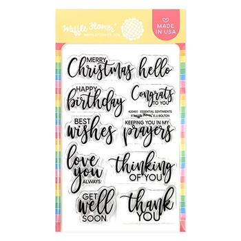 Waffle Flower ESSENTIAL SENTIMENTS Clear Stamps 420401