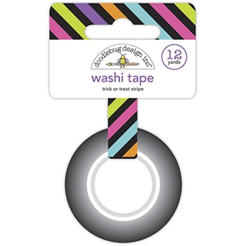 Doodlebug TRICK OR TREAT STRIPE Washi Tape Ghost Town 6929