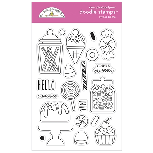 Doodlebug SWEET TREATS Doodle Clear Stamps 6974 Preview Image