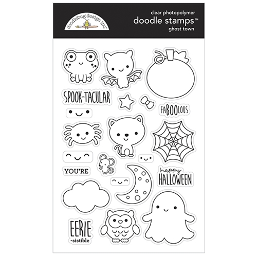 Doodlebug GHOST TOWN Doodle Clear Stamps 6976 Preview Image