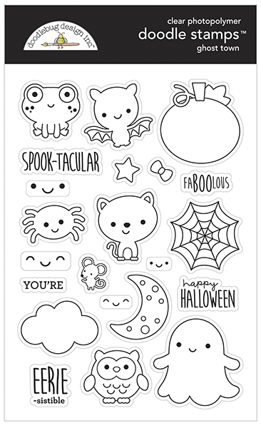 Doodlebug GHOST TOWN Doodle Clear Stamps 6976 zoom image