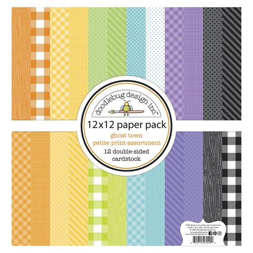 Doodlebug GHOST TOWN 12x12 Inch Petite Print Assortment Paper Pack 7040 Preview Image