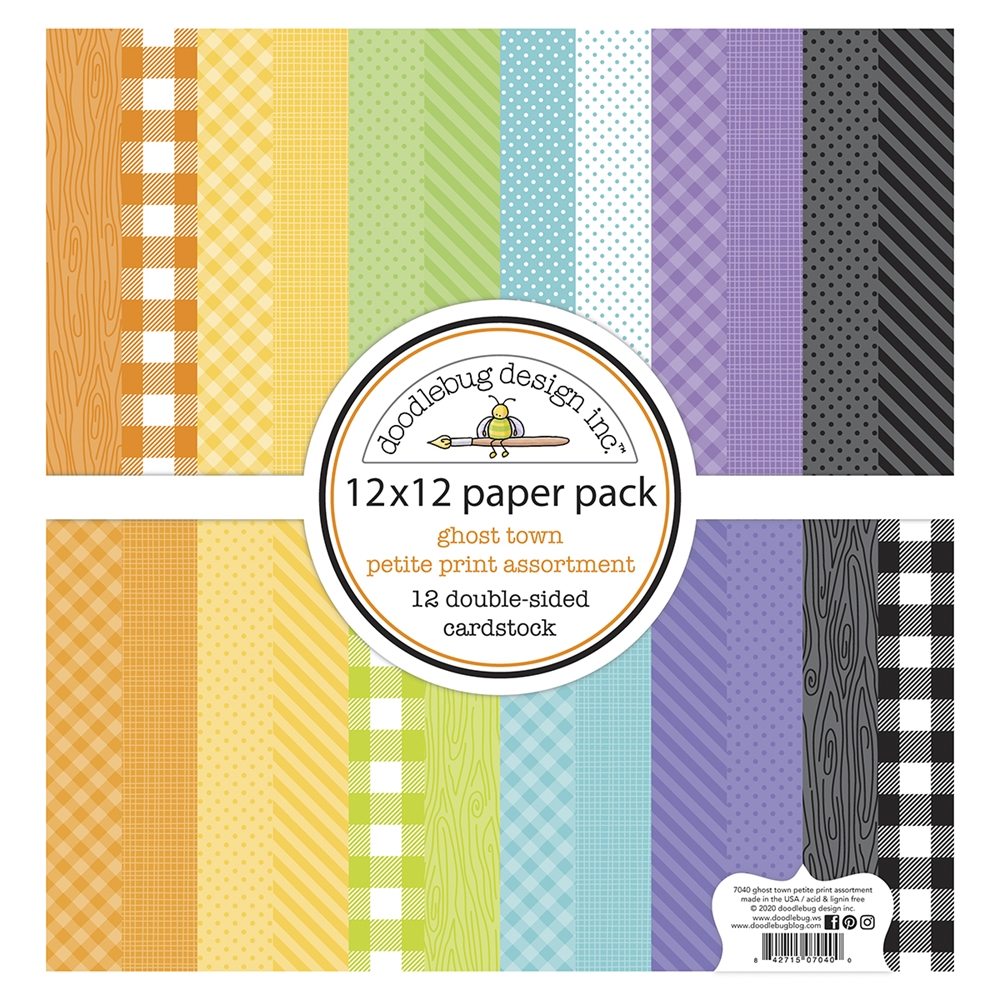 Doodlebug GHOST TOWN 12x12 Inch Petite Print Assortment Paper Pack 7040 zoom image
