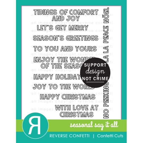 Reverse Confetti SEASONAL SAYS IT ALL Clear Stamps  Preview Image