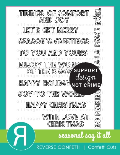 Reverse Confetti SEASONAL SAYS IT ALL Clear Stamps  zoom image