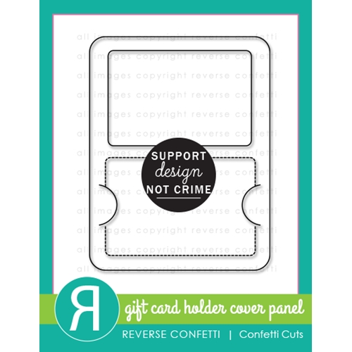 Reverse Confetti Cuts GIFT CARD HOLDER PANEL Die  Preview Image