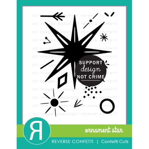 Reverse Confetti ORNAMENT STAR Clear Stamps Preview Image
