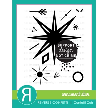 Reverse Confetti ORNAMENT STAR Clear Stamps