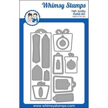 Whimsy Stamps BOOKMARK AND TAGS Dies WSD496