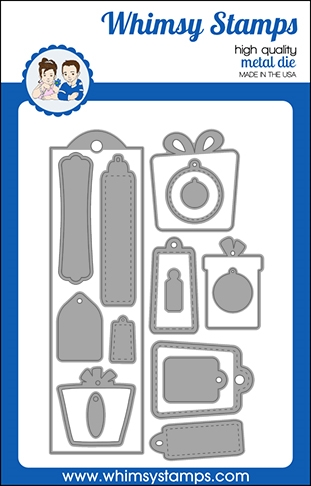 Whimsy Stamps BOOKMARK AND TAGS Dies WSD496 zoom image