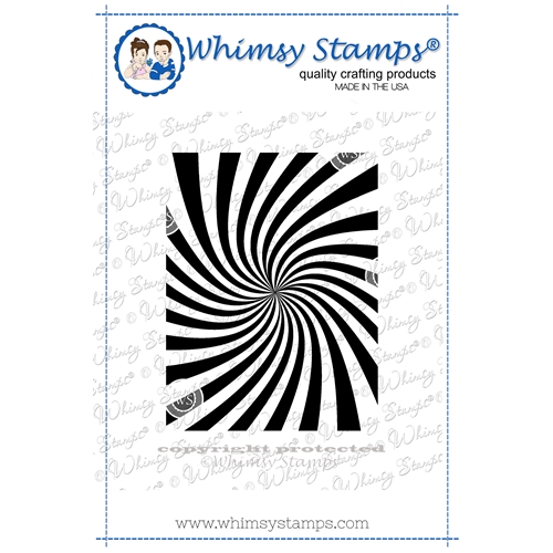 Whimsy Stamps COSMIC SWIRL Cling Stamp DDB0051 Preview Image