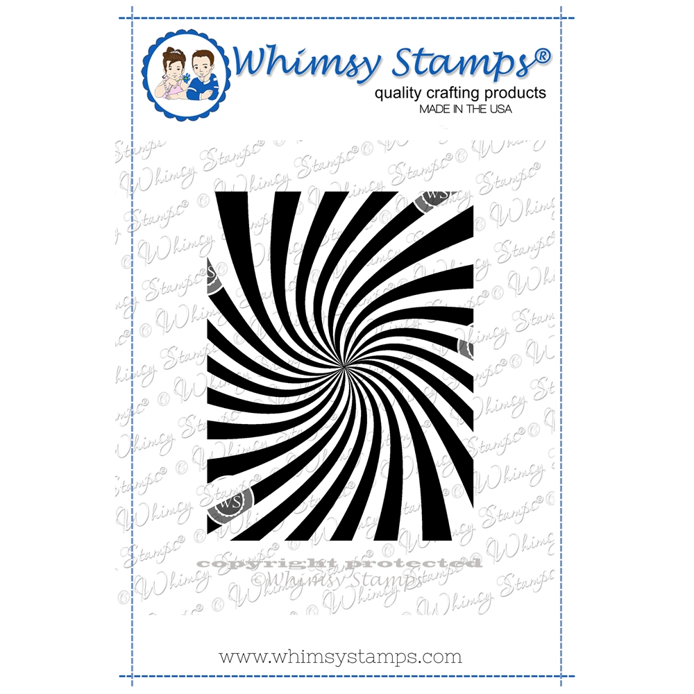 Whimsy Stamps COSMIC SWIRL Cling Stamp DDB0051 zoom image