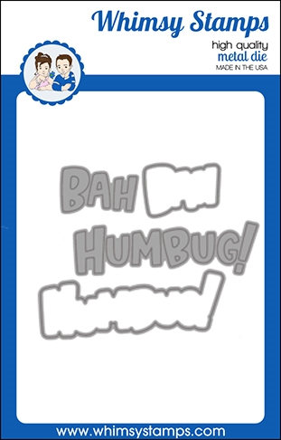 Whimsy Stamps BAH HUMBUG WORD AND SHADOW Dies WSD498 Preview Image