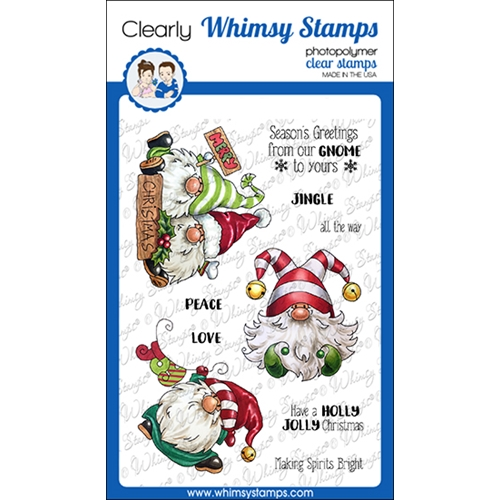 Whimsy Stamps GNOME FOR CHRISTMAS Clear Stamps C1365 Preview Image