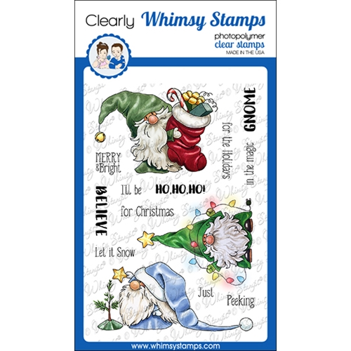 Whimsy Stamps GNOME FOR THE HOLIDAYS Clear Stamps C1366 Preview Image