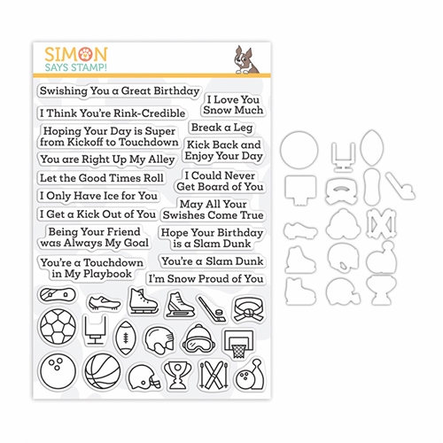 Simon Says Stamps and Dies WHAT A GOOD SPORT FALL and WINTER set350gsf Make Merry Preview Image