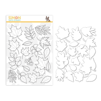 Simon Says Stamps and Dies AUTUMN LEAVES set355al Make Merry