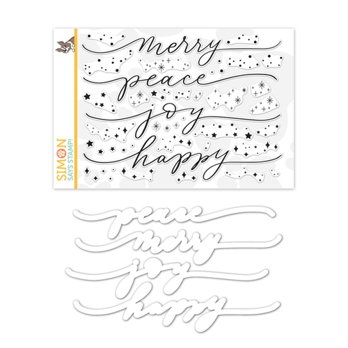 Simon Says Stamps and Dies HOLIDAY SPARKLE GREETINGS set359hsg Make Merry Preview Image