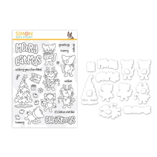 Simon Says Stamps and Dies FELINE LIKE CHRISTMAS SPINNERS set360flc Make Merry Preview Image