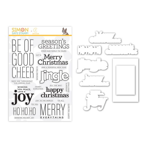 CZ Design Stamps and Dies GOOD CHEER set361gc Make Merry Preview Image
