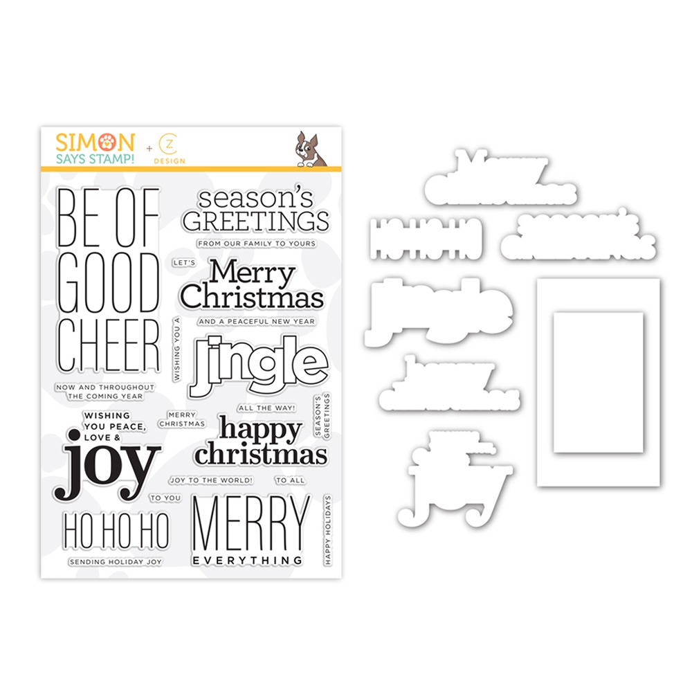 CZ Design Stamps and Dies GOOD CHEER set361gc Make Merry zoom image