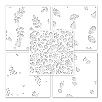 Simon Says Stamp Stencil FALLING LEAVES LAYERING ssst121490 Make Merry