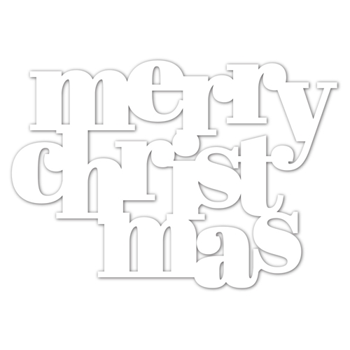 Simon Says Stamp Stencil BOLD MERRY CHRISTMAS ssst121502 Make Merry Preview Image