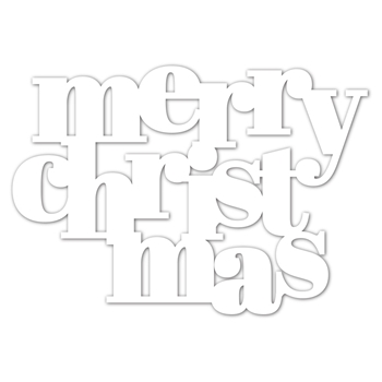 Simon Says Stamp Stencil BOLD MERRY CHRISTMAS ssst121502 Make Merry